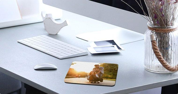 mousepad mit foto ansicht im raum