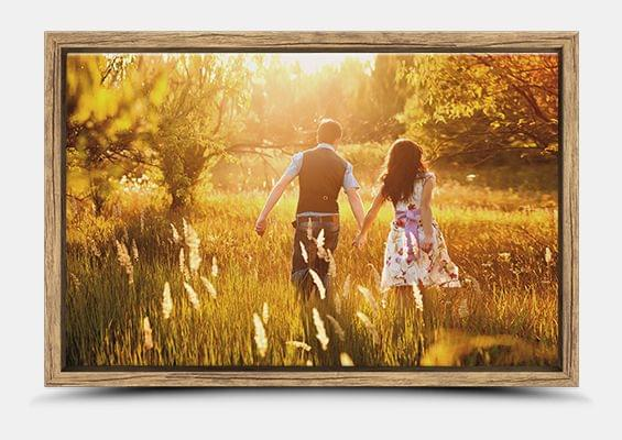 canvas print in Oak vintage flair frame fullview
