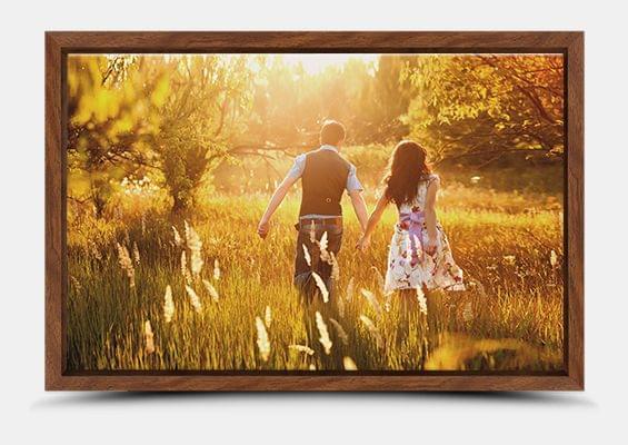 canvas print in walnut flair frame fullview