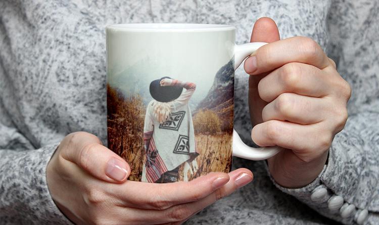 tasse mit foto over